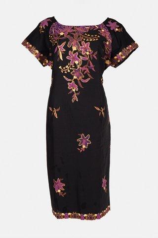 30090 Dress, w/boat neckline  Size : L