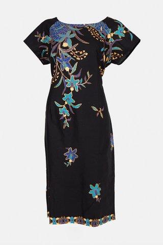 30090  Dress, w/boat neckline  Size : XXL