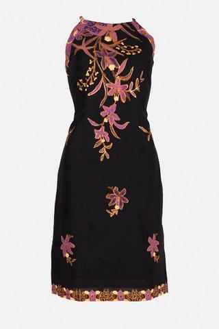20226 SKU:0089 Dress w/side print Braided        Size : S