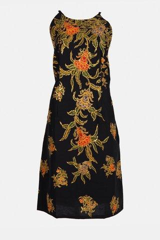20226 SKU:0099  Dress w/side print Braided     Size : XXL