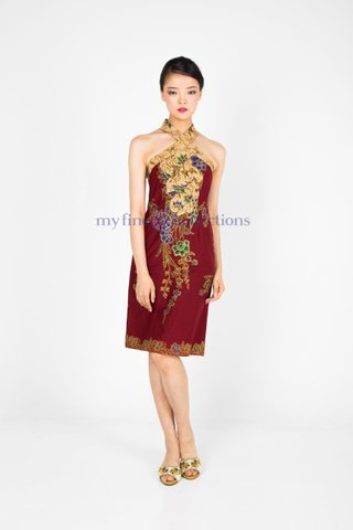 20128  Dress Cross-neckline                    Size : S to 2XL