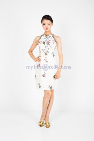 20226  Dress w/side print braided             Size : S to 2XL