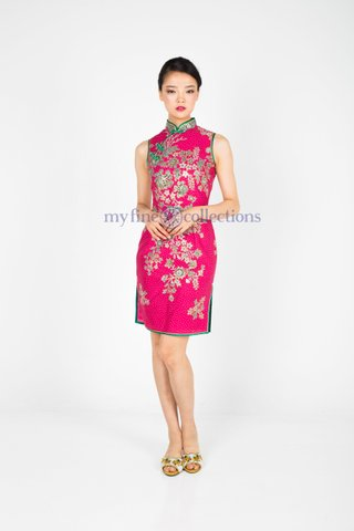 60257  Qi Pao Sleeveless            Size : S to 2XL