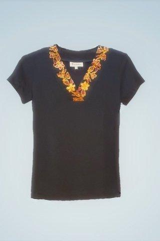 """0064 Blouse, Knit """"V"""" neckline  SKU: K1000002 Size : S"""