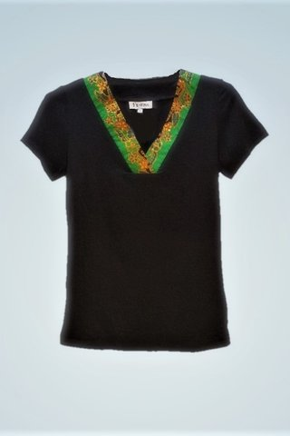 """0064 Blouse, Knit """"V"""" neckline  SKU: K1000003 Size : S"""
