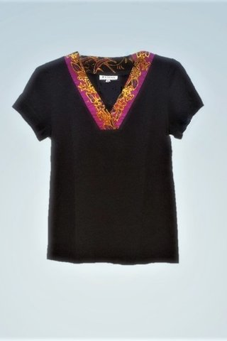 """0064 Blouse, Knit """"V"""" neckline  SKU: K2000005 Size : M"""