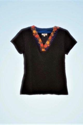 """0064 Blouse, Knit """"V"""" neckline  SKU: K3000012 Size : L"""
