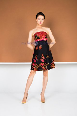 20234  Dress Tube 6P Flare            Size : S to 2XL