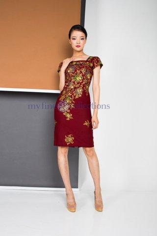 30223  Dress Square neckline            Size : S to 2XL