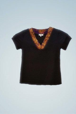 """0064 Blouse, Knit """"V"""" neckline SKU: K4000016  Size : XL"""